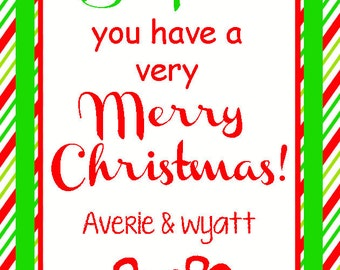 Just SOAPIN' You Have a Very Merry Christmas Gift Tag - Attach to Bath & Body Hand Soaps - Printable Wash You a Merry Christmas