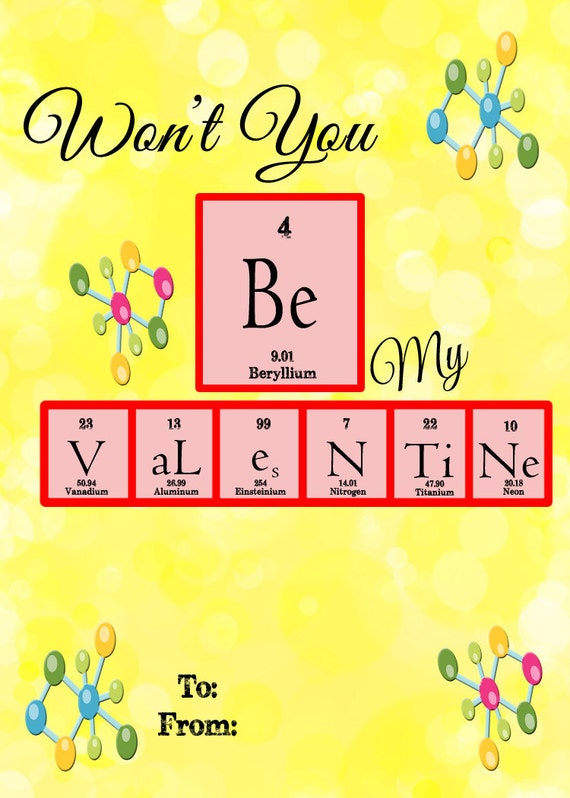 Instant Download Classroom Printable Valentines Day 4