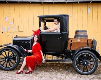 Fabulous fringe dress wed flapper great gatsby downton abbey 1920s dress