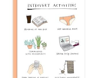 Introvert Activities Card