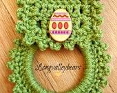 Hand crochet towel holder, Kitchen towel holder ready to ship