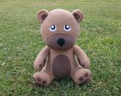Large Light Brown Huggable Teddy Bear