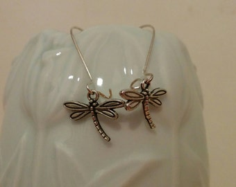 Dragonfly earrings, mosquito earrings, dragonfly jewelry, dragonfly jewel, mosquito jewel, animal jewelry, mosquito dangle, dangle earrings