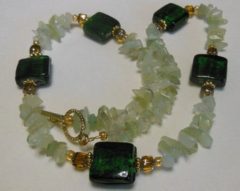 Forest Fantasy , Lamp work Necklace 722