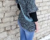 Sale 70% Grunge Sweater / Oversized Sweater / Oversized Knit Sweater / Loose Knit Sweater / Mohair Sweater / Asymmetrical Knit Sweater