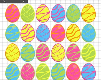 Easter Clipart, Easter Egg Clip Art, Digital Clipart, Instant Download, Commercial Use & Personal Use, Clipart for Teachers