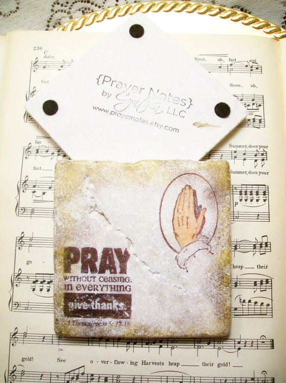 Coasters praying hands pray without ceasing 1st by prayernotes for Pray without ceasing coloring page