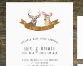 Printable Woodland Deer Wedding Invitation Suite | Wedding Invitation, Country Wedding Invitation, Wedding Invitation Set