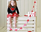 Girls Valentines Day Holiday Dress Heart Valentine Outfit Chevron and Rhinestones Baby Toddlers 6 12 18 24 Months Girls 2 3 4 5 6 8