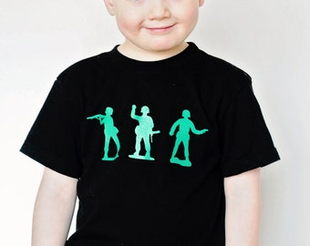 Little Green Army Men Toy Soldier Tee