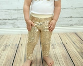 gold baby leggings, gold sparkle pants, gold girls leggings, girls leggings, toddler gold pants, sequin leggings, sequin pants, tights, girl