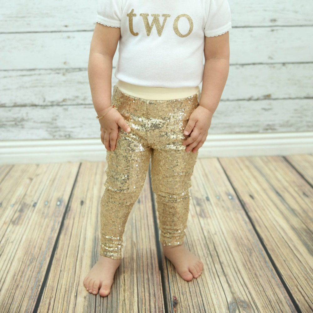 Baby gold tights