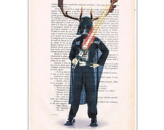 Darth Vader Star Wars Art Print, Dark Vador Poster, Star Wars Print on DICTIONARY Paper, Hollywood Poster Artwork - Impossible Movie
