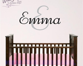Personalized Monogram Wall Decal, Girl room wall decal
