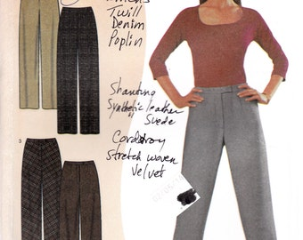 "High Waist Pants Trousers Straight Full Legs Waist 25-33"" Hip 38-46""  Simplicity 9943 Womens Sewing Pattern"