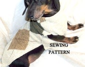 DIY Sewing Pattern for Dachshund Sweaters and Snoods with matching cuffs for Mom or Dad