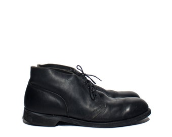 12 R | Vintage 1987 Addison Shoe Co. Military Chukka Boot Steel Toe Deck Boot