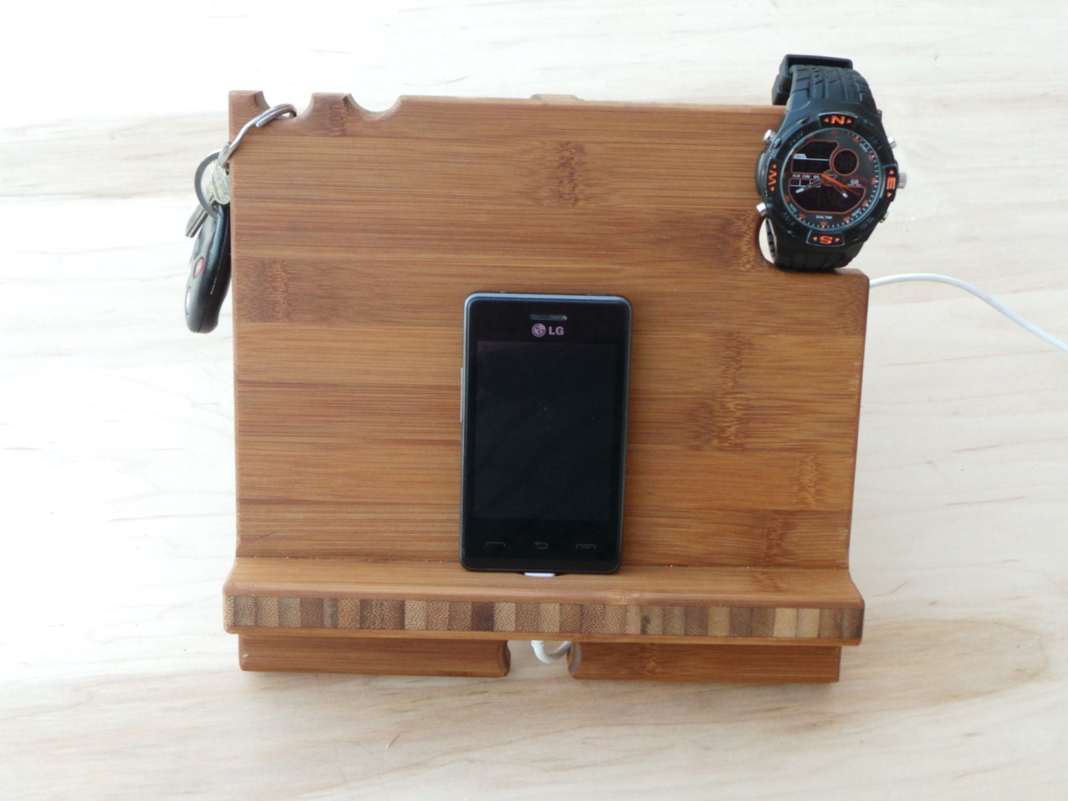 Fifth Wedding Anniversary Gifts For Men: 5th Anniversary Gift For Men Docking Station Tablet By JCBees