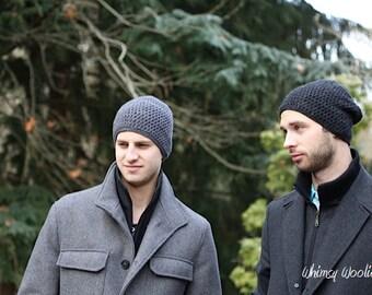 Men's Crochet Hat Pattern: Slouchy Beanie, Men's Fashion, Etsy Dudes, 'Matt's Cap',