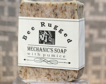 Mechanics Soap Natural Mens Honey Soap Valentine's Day Mechanic Gift for men Valentine Gift, Pumice Stone Soap Rosemary Soap Mechanics Wife