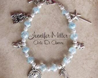 Cinderella Inspired Beaded Charm Bracelet