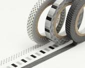 mt slim deco F washi tape (3 rolls, 6mm X 10M)