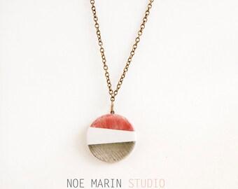 Delicate cute minimalist ceramic necklace pendant, Original handmade ceramic jewelry, Ceramic jewellery, Ceramics & pottery, Noe Marin
