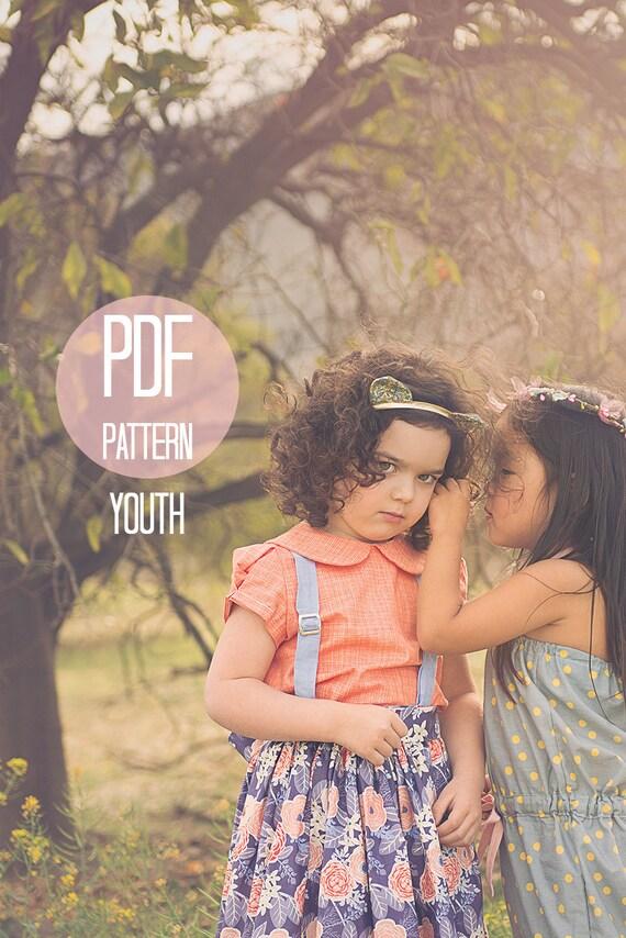 Pdf girls shirt pattern peter pan collar blouse retro puff for Peter pan shirt pattern