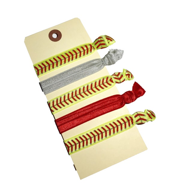 Softball Hair Ties Foe Ties Sports Hair Ties Neon