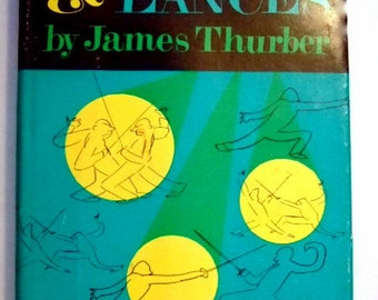 Vintage 1961 Book, Lanterns and Lances by James Thurber, Classic American Humorist, Cartoonist, Gift for Him, Gift for Her, Christmas