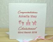 Christened/Baptism Personalised Laser Cut Card