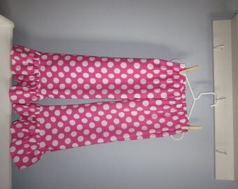 Custom girls or toddlers pink and white polka dot ruffle pants 12 18 24 2T 3T 4T 5 6 7 8 Valentines Ruffle Pants Minnie Mouse Pants Disney