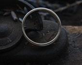 Yellow Gold Band, Brushed Gold Ring, 3mm Wedding Band, Thin Gold Ring, Satin Ring, Handmade Wedding Bands, Unisex Ring, Stacking Ring.
