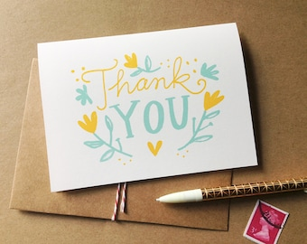 Thank You Card -Yellow