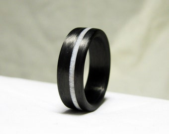 Antler and Carbon Fiber Ring - Naturally Shed Deer Antler