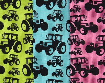 TRACTORS organic cotton jersey in two colors