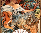 Alphonse Mucha (1897) ~ Biscuits Lefevre Utile ~ NEW 8x10 Art Print Reproduction