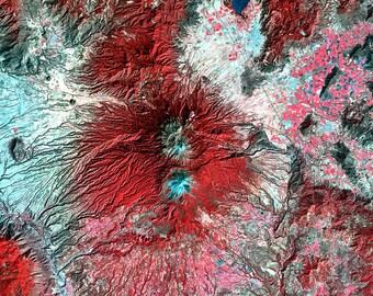 Colima Volcano, Mexico (2003) ~ Earth As Art ~ NEW 8x10 Art Print Reproduction