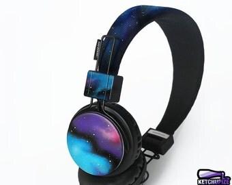 Custom gift for her Space Galaxy nebula Cosmic birthday gift for him men women headphones headset student dj earphones astronomy music lover