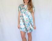 SALE: Size Small Floral Pleat Sleeve Swing Dress