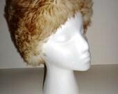 Vintage MOD Shearling Sheepskin Hat