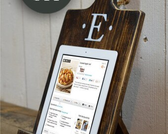 Gift Wood iPad Stand Cutting Board Style Cookbook Holder