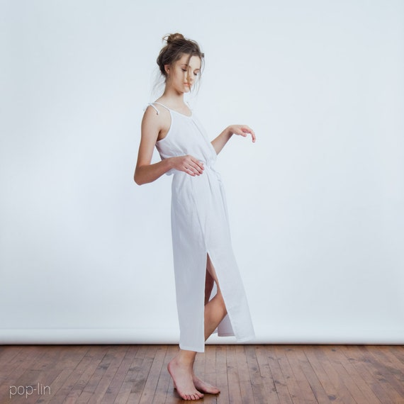 ON SALE >> Shoulder Tie Nightdress >> White