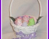 Baby Shower Gift-Basket Full Of Flowers