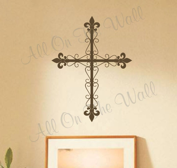 Cross Wall Decal Religious Family Decals Home By