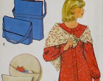 Uncut Vintage 1970s Blouse Scarf & Bags Pattern Bust 34 Simplicity 8634