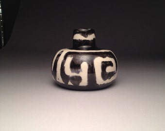 Black and White Tribal Vase