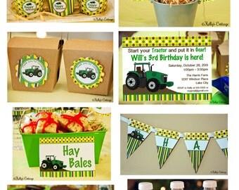 Tractor Birthday Party Package...Custom, Printable DIY Package
