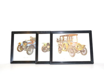 Model T Cars Picture Antique Cars Picture Framed Prints Cars Vehicles Transportation Wall Hangings