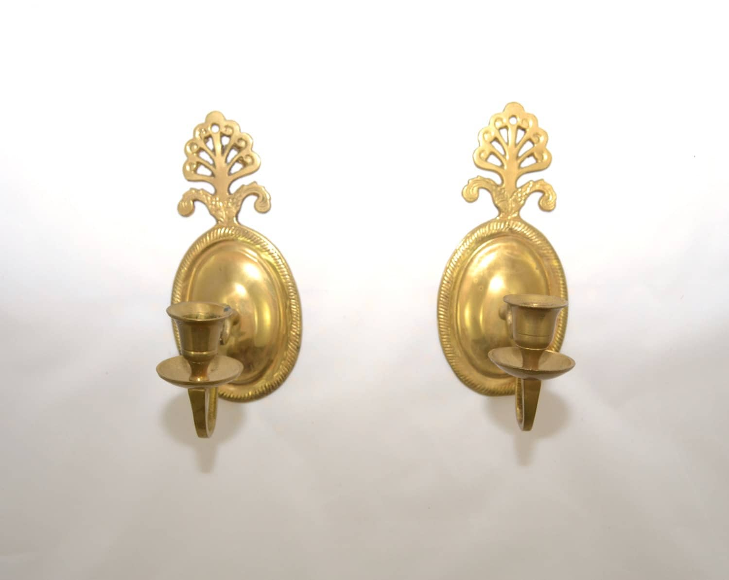Candle Wall Sconces Vintage : Candle Holder Wall Sconce Brass Wall Sconce Candle Holders Art